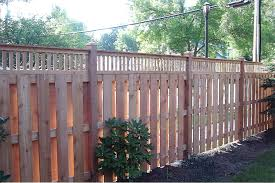 paint one wooden shadow box fence u2014 home design ideas