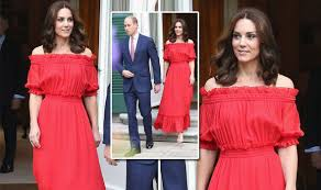 duchess of cambridge looks red in spanish style dress for