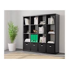 libreria expedit ikea kallax scaffale libreria con 4 accessori marrone nero ex