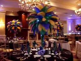 Peacock Feather Centerpieces by Mardi Gras Themed Ostrich Feather Centerpieces Rentals At The Inn