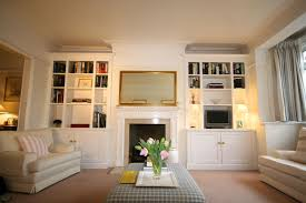 Built In Bookshelves Bespoke Bookcases London Furniture by Bespoke Pair Of Elegant Built In Alcove Units Clever Use Of The
