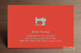 Business Card Fashion Designer Tailoring Business Cards Diomioprint