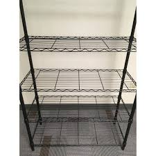 Container Store Chair Container Store Intermetro 7 Shelf Black Metal Shelving Aptdeco