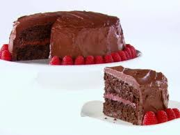 chocolate raspberry layer cake recipe giada de laurentiis food