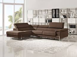 Modern Sectional Sofa With Chaise Modern Palform Sectional Sofa With Espresso Leather Upholstered