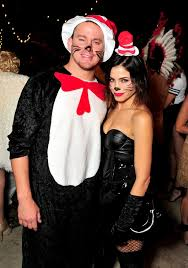 cat in the hat costume channing tatum and dewan as dr seuss s cat in the hat