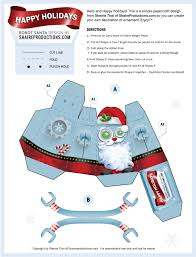christmas robot santa by sherrie thai free paper craft template
