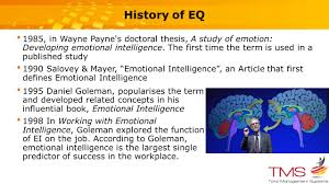 the importance of emotional intelligence eq tmm u0026 eq august ppt
