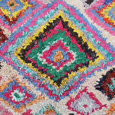 boucherouite rug colorful rag rug from morocco berber carpet