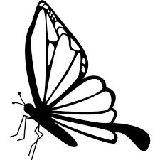 butterfly side view icons free