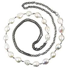 long pearl chain necklace images Modern pearl long necklace jenne rayburn jpg