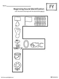 letter f beginning sound color pictures worksheet letter f