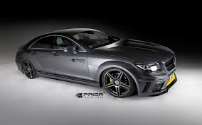 mercedes cls 63 amg black prior design pd550 black edition aerodynamic kit for mercedes cls