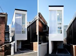 narrow homes mini house is set on a 3 meter wide plot in seoul