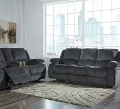 Power Reclining Sofa And Loveseat by Contemporary Power Reclining Loveseat W Console Brown Sam