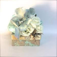 pre wrapped gift box gift box vintage blue gift card holder pre wrapped gift box