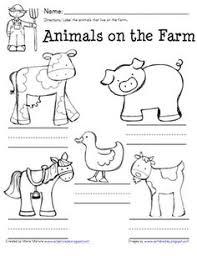 farm animals kindergarten special education autism cut and paste