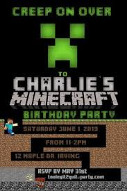 the 25 best minecraft birthday invitations ideas on pinterest