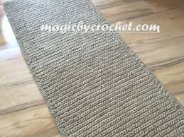 Jute Runner Rug Hallway Runner Rug Handmade Jute Crochet Rug No 032