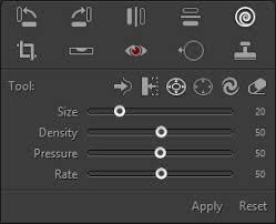 reset liquify tool photoshop liquify tool globaledit user guide of pt photo editor easily