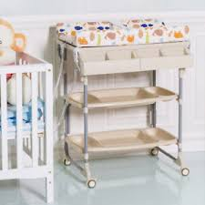 Bath Change Table 2 In 1 Baby Changing Table Bath Tub Rolling Unit Station Storage