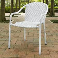 White Patio Furniture Set White Patio Dining Chairs You Ll Wayfair