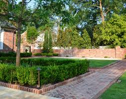 Landscaping Columbia Sc by Outdoor Spaces Landscape Design For Privacy With Brick And Iron
