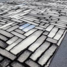 jugendzimmer teppich moderner design teppich in 3d optik blau grau creme t011v vimoda