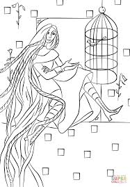 rapunzel in her tower coloring page free printable coloring pages
