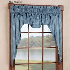 Swag Valances For Windows Designs Sturbridge 3 Pc Swag Window Valance Set