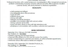Secretary Resumes Examples by Download New Resume Templates Haadyaooverbayresort Com