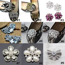 free shipping 20 pcs lot mixed design clip on shoe clip deco