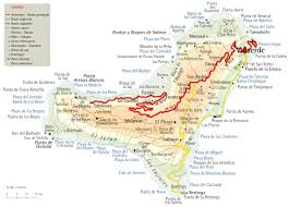 Canary Islands Map The Island Of El Hierro In The Canary Islands