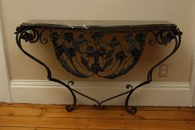 Wrought Iron Console Table Wrought Iron Console Tables For Minimalist And Room Design