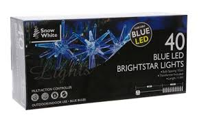 bright star lights christmas snow white indoor outdoor christmas lights 40 blue bright star led
