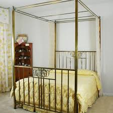 antique canopy bed antique four poster canopy brass bed ebth