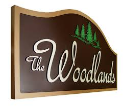routed signs for the woodlands subdivision hdu signage by strata