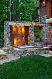Best Hot Tub Ideas Images On Pinterest Architecture Terraces - Backyard spa designs