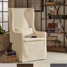 signal hills potomac slipcovered parsons side tan chair