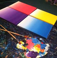 paintings to paint how to paint an ombre canvas painting diy paintspiration