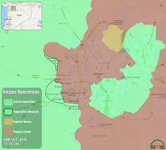 Correct Map Of The World by Syria Aleppo Battle Day 2 Updated Map Yalla Souriya