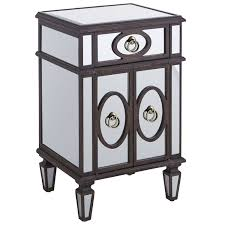 Pier 1 Imports Mirrored Chest by Classic Old Mirrored Nightstand With Black Wooden Frame And 3