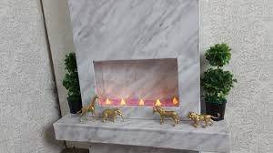modern fireplace diy modern fireplace for american doll youtube