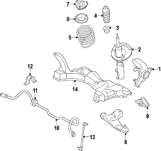 ford focus suspension diagram ford 8s4z3079a genuine oem lower arm ebay