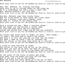 U Got It Bad Lyrics Mrs Mcgrath By The Dubliners Song Lyrics And Chords