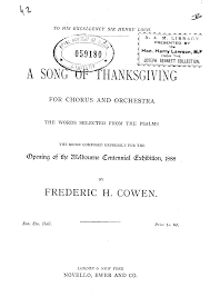 a song of thanksgiving cowen frederic hymen imslp petrucci