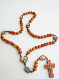 wooden rosary 6mm light wood bead rosary rosarycard net