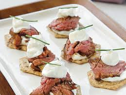 beef canape recipes beef teriyaki crisps with wasabi mayonnaise recipe myrecipes