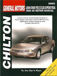 old car repair manuals 1989 buick regal spare parts catalogs buick regal pontiac grand prix repair manual 1988 1996 chilton