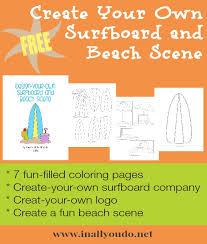 create surfboard free printables